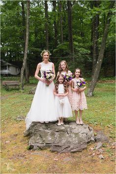 wedding | bride and flower girls; Hazel Lining Photography, Bucks County PA | www.hazel-lining.com