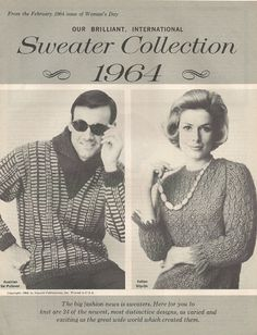 A personal favorite from my Etsy shop https://www.etsy.com/listing/78122128/midcentury-knitting-patterns-retro