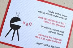 Nashville Invitation // Digital File - You Download and Print!  BBQ bar-b-que party outdoor invitation with grill