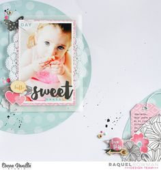 Cocoa Vanilla Studio - A layout using 'Hello Lovely' Circle Scrapbook, Baby Scrapbook Pages, Kids Scrapbook, Scrapbook Page Layouts, Scrapbook Paper Crafts, Scrapbook Cards, Cocoa, Recipe Scrapbook, Paper Art