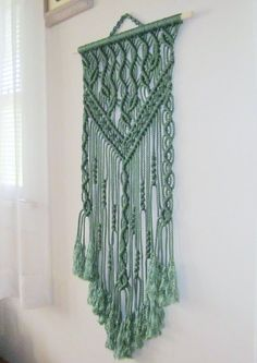 Macrame Wall Hanging Spring Handmade Macrame Home by craft2joy