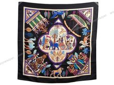 Rare Foulard Hermes Paris Persepolis Sophie Koechlin Carre Soie Noir Silk Scarf   eBay