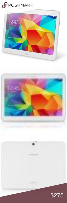 Samsung Galaxy Tab 4 SM-T530NU 16GB, Wi-Fi, 10.1in Item specifics Condition: Used:  it includes a HD Glass Screen Protector and a Black Stand/Cover  Brand:  Samsung Operating System:  Android MPN:  SM-T530NZWAXAR Exterior Color:  White Hardware Connectivity:  Wi-Fi Processor Manufacturer:  Samsung Type:  Tablet Rear Camera Resolution:  3 Megapixel Internet Connectivity:  Wi-Fi Installed RAM:  2 ChannelGB Carrier:  Not Applicable Expandability:  microSD Storage Capacity:  16GB Samsung Other