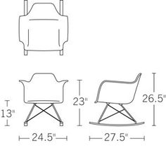 1000 images about charles eames rar plastic rocking chair for Chaise eames bascule