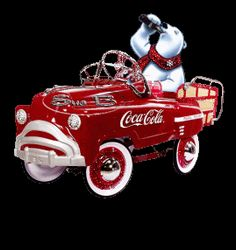*COCA-COLA Bear ~ Peddle Car....gif image by bronwyn_010 - Photobucket