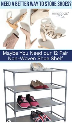 Need a better solution for storing shoes? Closet storage organization made easy. We're your one-stop-shop for hangers and clothing organizers. At Hangorize, we provide a wide-selection of high-quality Wardrobe Storage, Clothing Storage, Closet Storage, Shoe Closet, Bedroom Storage, Bedroom Closets, Bedrooms, Corner Storage, Hidden Storage