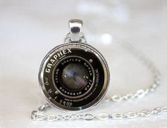 Free: Vintage Camera Lens new Cabochon Silver plated Glass Chain Pendant Necklace - Necklaces - Listia.com Auctions for Free Stuff
