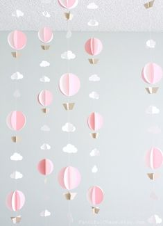 Hot Air Balloon Paper Garland Wedding Birthday by FancifulChaos