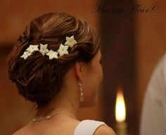 Set Of 6  White Stephanotis Hair Pins With by marissafleur on Etsy, $22.00