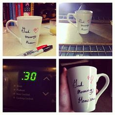 Tiny Painted Fingers: Baked Sharpie Coffee Mug DYI Project