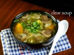 Easy n quick chicken clear soup recipe bariatric diet liquid and clear soup recipe veg clear soup clear vegetable soup with step by step photo forumfinder Images
