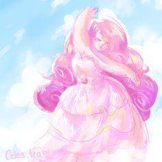 rose quartz being beautiful