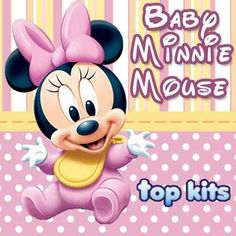 Minnie Mouse Drawing, Minnie Y Mickey Mouse, Disney Mickey, Mickey Mouse Imagenes, Baby Disney Characters, Disney Quilt, Cute Disney Wallpaper, Baby Mouse, Baby Cartoon