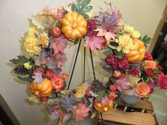 Fall wreath, everything we made at Holiday Florist is one-of-a-kind. Floral Wreath, Wreaths, Fall, Holiday, Home Decor, Autumn, Floral Crown, Vacations, Decoration Home