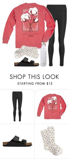"""""""Girl Please"""" by robramey17 ❤ liked on Polyvore featuring NIKE, Birkenstock and S'well"""