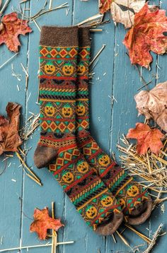 Sock-O-Lanterns – Kiel James Patrick Fall Halloween, Happy Halloween, Halloween Night, Sweater Design, Cosplay, Fall Season, Hot Chocolate, Christmas Stockings, Fall Decor