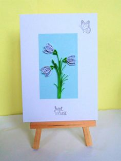 Just because card greeting card quilled card blank by KaisCards