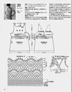 Crochet y dos agujas: Blusa tejida al crochet con patrones