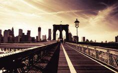 New York City - The Brooklyn Bridge  —-