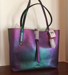 SALE!! COACH HOLOGRAM Pebble Leather Market TOTE, NWT Sold Out! #Coach #TOTESHOULDERBAG