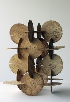 Damian Ortega Modulo de construccion de tortillas, 1998 corn tortillas, 6 x 14.2 x 14.5 in inches