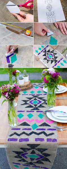 DIY Aztec Table Runner