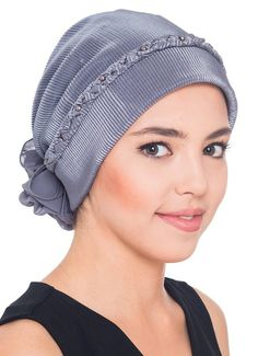 Braided & Pearl Detail Headwear (Dark Grey)