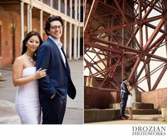 Romantic engagement session at Fort Point in San Francisco. #engagement #photography #drozianphotoworks