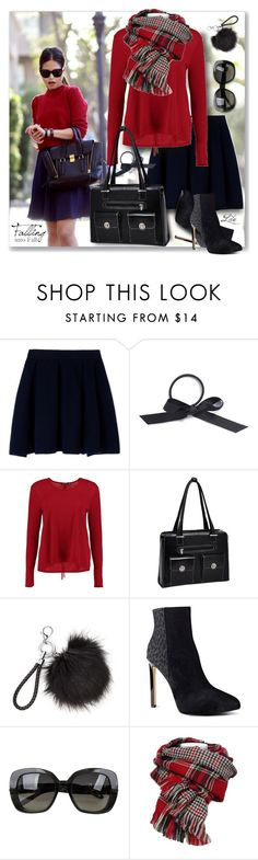 """I am thankful to be me... just me!"" by breathing-style ❤ liked on Polyvore featuring Maison Kitsuné, L. Erickson, Boohoo, McKleinUSA, Nine West and Bottega Veneta"