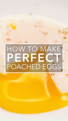 Here is how to make a perfectly poached egg every time! With creamy yolks and firm whites poached eggs are a breakfast on their own. You can also serve them over greens topped with Hollandaise in a grain bowl or dozens of other ways. Breakfast Dishes, Breakfast Recipes, Yummy Breakfast Ideas, Mexican Breakfast, Pancake Recipes, Breakfast Sandwiches, Breakfast Pizza, Breakfast Cookies, Waffle Recipes