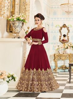 Looking to buy Anarkali online? ✓ Buy the latest designer Anarkali suits at Lashkaraa, with a variety of long Anarkali suits, party wear & Anarkali dresses! Designer Anarkali, Designer Salwar Kameez, Designer Gowns, Designer Wear, Trajes Anarkali, Anarkali Gown, Indian Anarkali, Long Anarkali, Lehenga Choli