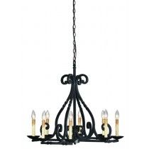 World Imports Rennes 8 Light Chandelier in Rust Finish - WI6181842