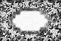 Black and White Damask Label : Free Printable Invitations. Printable Lables, Free Printable Invitations, Party Printables, Free Printables, Classic Wallpaper, Frame Clipart, Borders And Frames, Coffee Art, Miniture Things