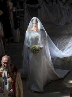 Today, fans from around the world tuned in to catch the Royal Wedding. Prince Harry and Meghan Markle, now the newly titled Duke and Duchess of Sussex, said their vows at the breathtaking St. Harry And Meghan Wedding, Harry Et Meghan, Harry Wedding, Kate And Meghan, Prince Harry And Megan, Wedding Bride, Royal Wedding Gowns, Royal Weddings, Wedding Dresses