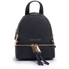 Michael Removable Straps Mini Backpack (€185) ❤ liked on Polyvore featuring bags, backpacks, womenbagsbackpacks, michael kors, shoulder strap backpack, miniature backpack, leather knapsack and mini bags