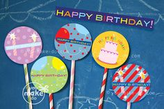 INSTANT DOWNLOAD birthday printables  birthday by youmakedo, $3.00