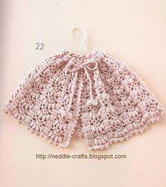 بونشو للبنوتات الصغيره - girl's poncho in crochet ~ شغل ابره NEEDLE CRAFTS - free pattern - diagram