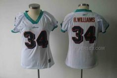 DOLPHINS 34 R.WILLIAMS WHITE WOMEN JERSEYS, Only$34.00 , Free Shipping! http://www.yjersey.com/dolphins-34-rwilliams-white-women-jerseys.html