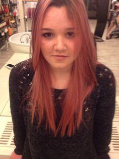 Pink blond hair
