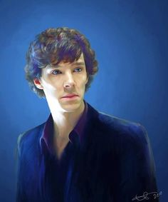 "What an amazing portrait. temptedbychocolate: "" Benedict Cumberbatch/Sherlock Holmes by *euclase "" Sherlock Holmes Benedict, Sherlock Holmes Bbc, Watson Sherlock, Sherlock John, Martin Freeman, Benedict Cumberbatch, Sherlolly, 221b Baker Street, Fan Art"