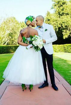 New York Meets South Africa Wedding: Morning Precious One. I've had this New York meets Africa wedding at the foref African Traditional Wedding Dress, Traditional Weddings, African Wedding Attire, African Attire, African Men, South African Weddings, Nigerian Weddings, Multicultural Wedding, African Dress