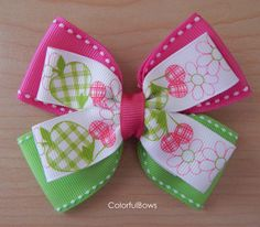 Colorful Hair Bow for Girls #hairbows #girls