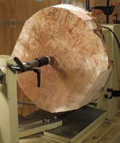 The images in the slide show gallery show the story of turning a large diameter) aspen burl. The turning process took about 8 hours. Aspen burls are alway
