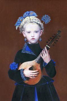 "Titti Garelli; Acrylic, 2012, Painting ""Cecilia"""