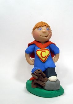 Superman Connor Cake Topper by gingerbabies.deviantart.com