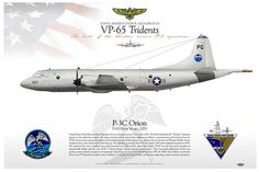 """P-3C-Orion-3045    UNITED STATES NAVY    Lockheed P-3C """"Orion""""  PG 527    NAVAL RESERVE PATROL SQUADRON 65  VP-65 """"TRIDENTS""""  """"The best of the thirteen reserve P-3 squadrons""""  NAS Point Mugu, 2005"""