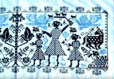 Keresztszemes magyar hímzés. A romboló, a fenntartó és a teremtő erők. Folk Art, Sculpture, Quilts, Blanket, Life, Popular Art, Quilt Sets, Sculptures, Blankets