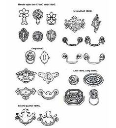 dating antique drawer pulls