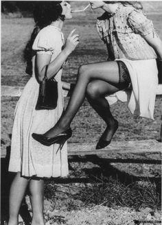 Vinage Share the Spark photography light vintage smoke girls share blackandwhite