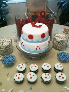 1. Smash cake at dessert bar (everything else small dessert choices cake pops maybe cupcakes/cupcake minis)  2. Cake stand